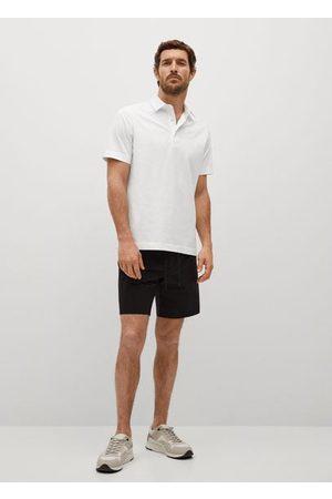 MANGO Technical cotton polo shirt