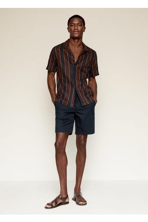 MANGO Drawstring cotton linen Bermuda short