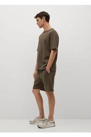 MANGO Organic cotton jogging Bermuda shorts