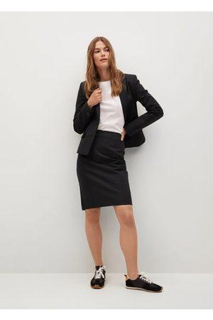 MANGO Women Pencil Skirts - Cotton pencil skirt
