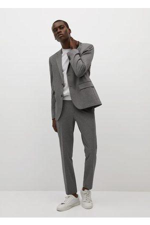 MANGO Slim fit cotton suit pants