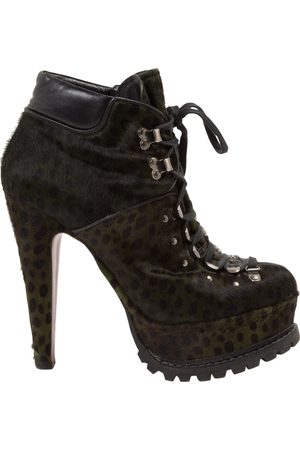 Alaïa Women Ankle Boots - Pony-style calfskin lace up boots