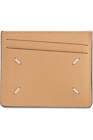 Maison Margiela Men Wallets - Logo Print Leather Card Holder