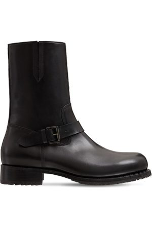 Dsquared2 Zip Leather Rider Boots