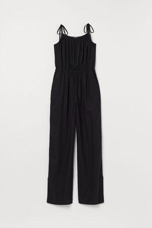 H&M Women Jumpsuits - Linen-blend Jumpsuit