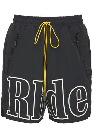 RHUDE Men Shorts - Printed Logo Tech Shorts