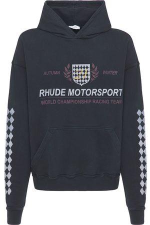 Rhude Motor Crest Cotton Hoodie
