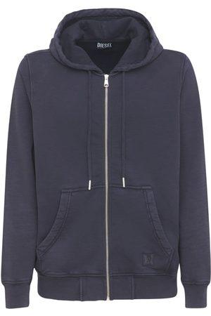Diesel Cotton Jersey Zip Hoodie