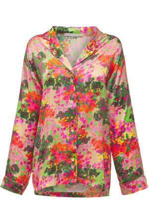 Stella McCartney Ava Cheering Printed Silk Pajama Top