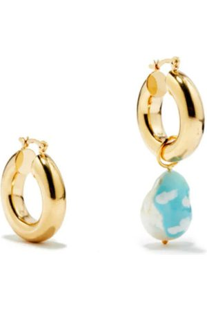 Martha Calvo Sky's The Limit mismatched gold-plated earrings