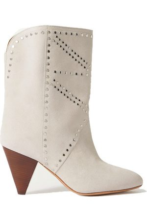 Isabel Marant Deezia studded suede ankle boots