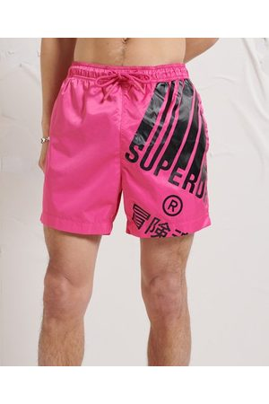 Superdry Men Swim Shorts - Energy Graphic Swim Shorts