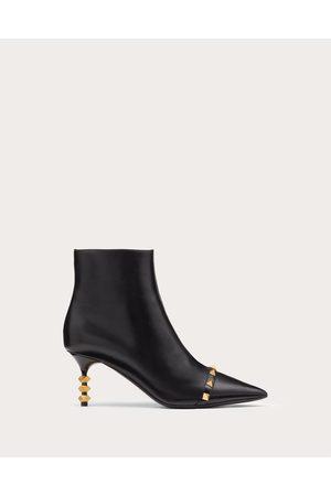 VALENTINO GARAVANI Women Ankle Boots - Rockstud Kidskin Ankle Boot With Sculpted Heel 70 Mm Women Lambskin 100% 36.5