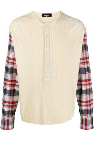 Dsquared2 Check-panel cotton jumper