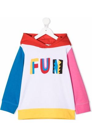 Stella McCartney Kids Girls Hoodies - Fun colour-block hoodie