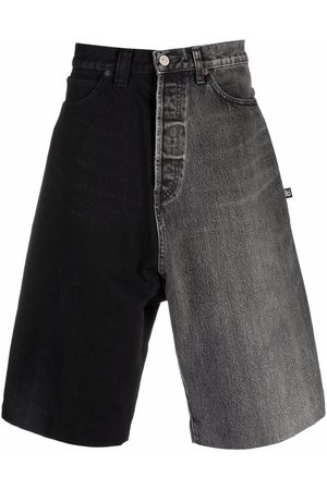 Balenciaga Two-tone denim shorts - Grey
