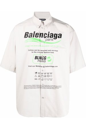 Balenciaga Men Casual - Dry Cleaning oversize shirt - Grey