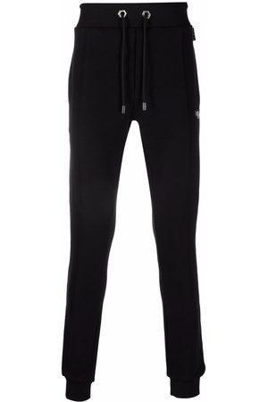 Philipp Plein Men Sweatpants - Logo-patch cotton track pants