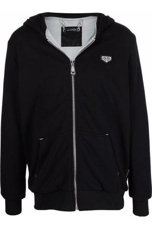Philipp Plein Men Hoodies - Logo-plaque zip-up hoodie