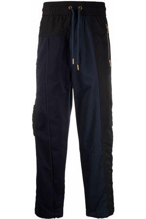 Diesel Satin-panelled drawstring trousers