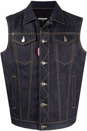 Dsquared2 Men Denim Jackets - Panelled denim jacket