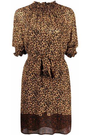 Pinko Leopard print minidress - Neutrals