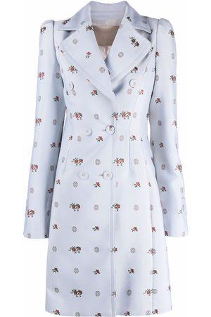 Elie Saab Women Coats - Jacquard double-breasted coat