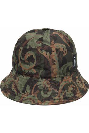 VERSACE Men Hats - Baroque-print bucket hat