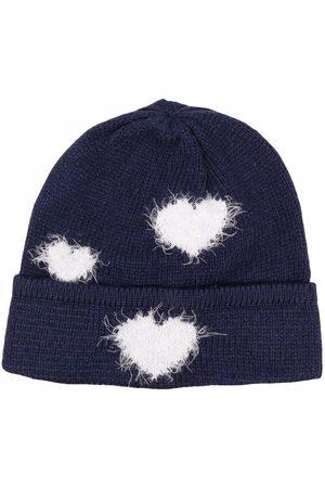 MONNALISA Girls Beanies - Heart appliqué beanie hat