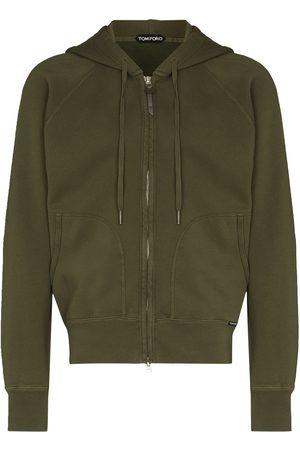 Tom Ford Vintage dyed zip hoodie