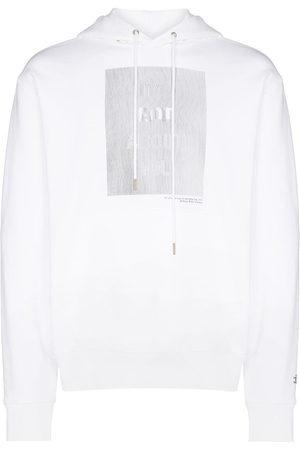 Helmut Lang Men Hoodies - HWT lenticular print drawstring hoodie