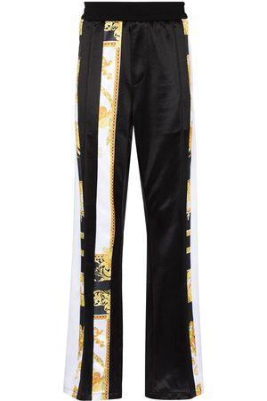 VERSACE Barocco-print satin track pants