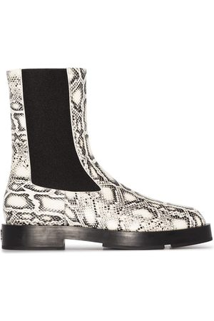 Givenchy Snake print chelsea ankle boots