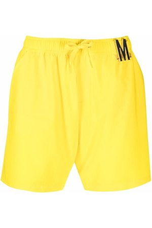 Moschino Men Swim Shorts - Logo plaque swim shorts