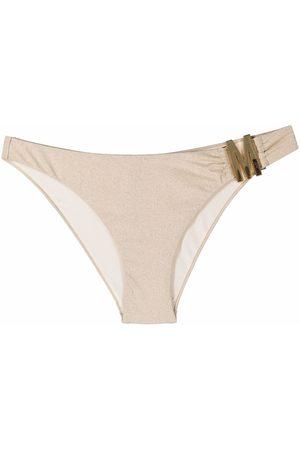 Moschino Women Bikinis - M plaque bikini briefs - Neutrals