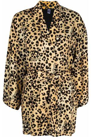 Moschino Women Bathrobes - All-Over-Teddy leopard-print robe - Neutrals