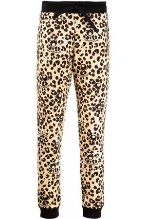 Moschino Women Sweatpants - Teddy leopard-print trousers - Neutrals