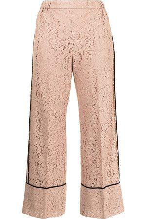 Nº21 Straight-leg lace trousers