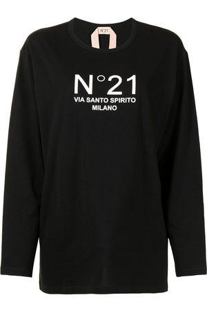 Nº21 Long-sleeved logo T-shirt