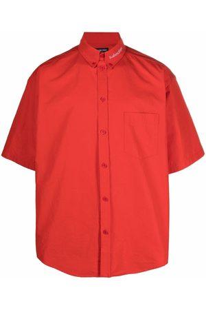 Balenciaga Embroidered logo collar shirt