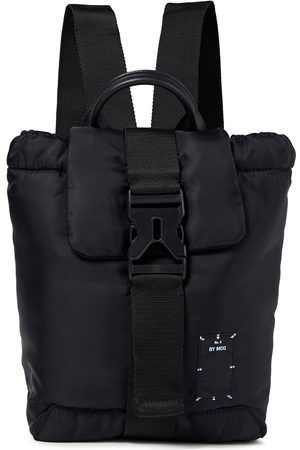 McQ Woman Icon Zero Leather-trimmed Appliquéd Shell Backpack Size