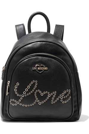 Love Moschino Woman Eyelet-embellished Faux Textured-leather Backpack Size