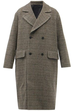 Raey Men Coats - Oversized Double-breasted Checked Wool Coat - Mens - Multi