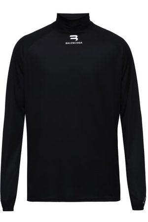 Balenciaga Men Long Sleeve - Long-sleeve Technical Performance T-shirt - Mens
