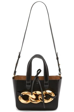 JW Anderson Chain-embellished Leather Tote Bag - Womens