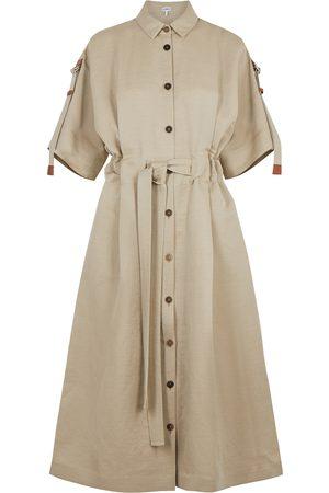 Loewe Stone linen-blend shirt dress