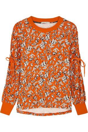 ALICE+OLIVIA Charlotte floral-print cotton sweatshirt