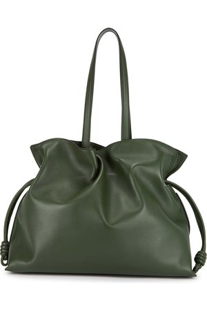Loewe Flamenco XL forest leather tote