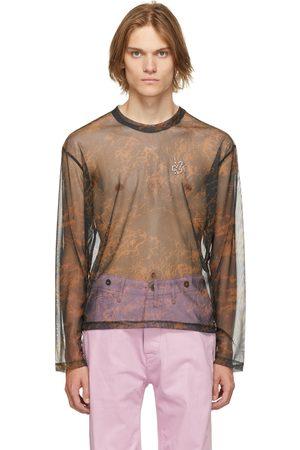 Carne Bollente Men Long Sleeve - Black & Brown Mesh Of Desire Long Sleeve T-Shirt