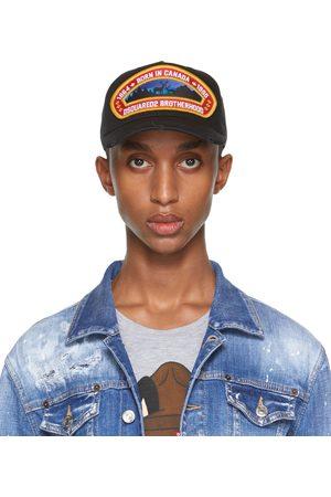 Dsquared2 Men Caps - Black 'Born In Canada' Patch Cap
